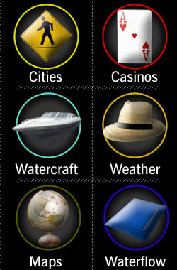 Cities | Casinos | Watercraft | Weather | Maps | Waterflow